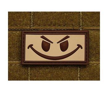 JTG PVC Patch Evil Smiley TAN patch