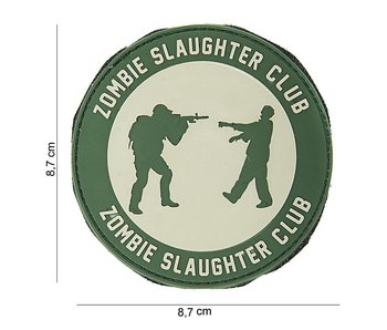 101Inc. PVC Patch  Walker Butcher Groen/Grijs Rond