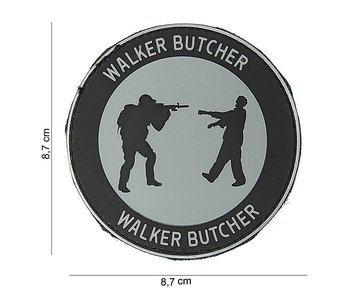 101Inc. PVC Patch  Walker Butcher Grijs Rond