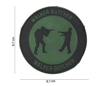 101Inc. PVC Patch  Walker Butcher Groen/Zwart Rond