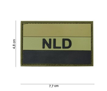 101Inc. PVC Patch NLD groen/zwart