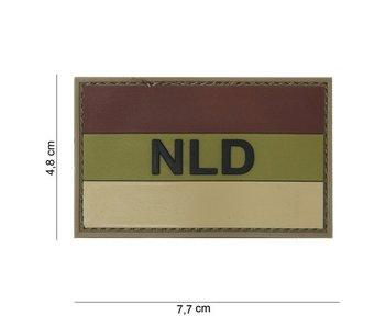101Inc. PVC Patch NLD bruin/ecru