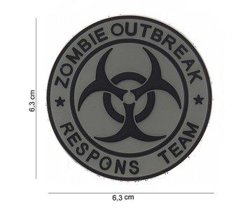 101Inc. PVC Patch  Zombie Outbreak Grijs