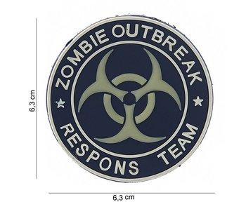 101Inc. PVC Patch  Zombie Outbreak Blauw