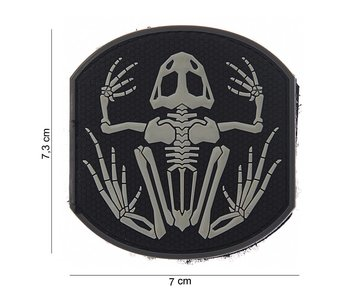 101Inc. PVC Patch Skull frog SWAT