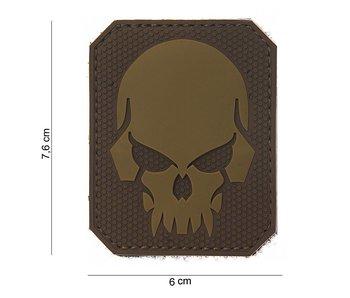 101Inc. PVC Patch  Pirate Skull TAN