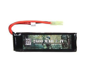 101Inc. LI-PO Batterij 7.4V 2600Mah
