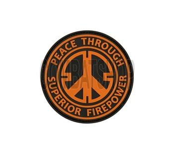 JTG Peace Rubber Patch Orange