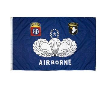 Fosco Vlag Airborne Blauw & Embleem