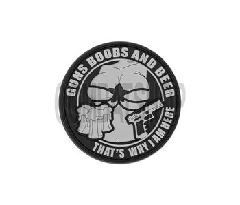 """PVC Patch """"Guns Boobs and Beer"""""""