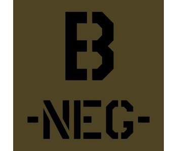 Blood Typ B -NEG- Olive Drab