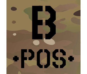 Blood Typ B -POS- Multicam