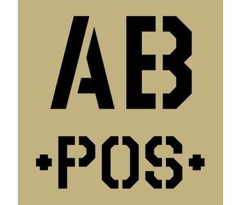 Blood Typ AB -POS- Sand