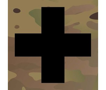 Medic Patch Black Cross Multicam