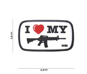 101Inc. PVC I Love My M4 White