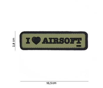 101Inc. PVC I Love Airsoft Green