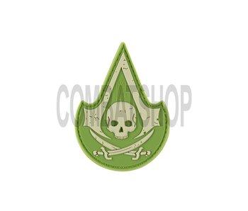 JTG PVC Assassin Skull Patch Green