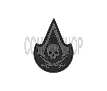 JTG PVC Assassin Skull Patch Black