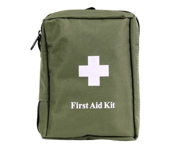 MFH First-Aid set, Groot, Olive Drab, Zonder Molle, 18x12x7cm