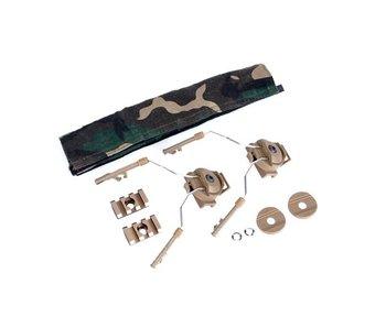 Z-Tactical Helmet Rail Adapter Set for Comtac I + II Tan