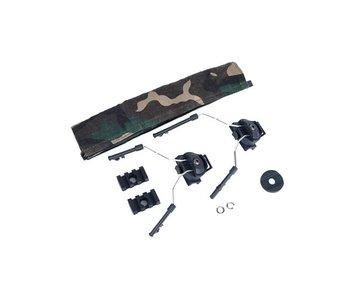 Z-Tactical Helmet Rail Adapter Set for Comtac I + II Black