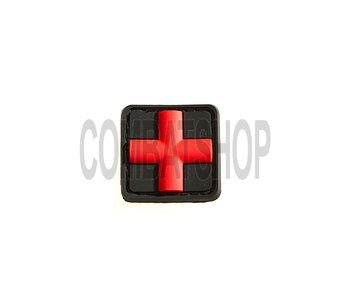 JTG Red Cross Rubber Patch 25mm Rood