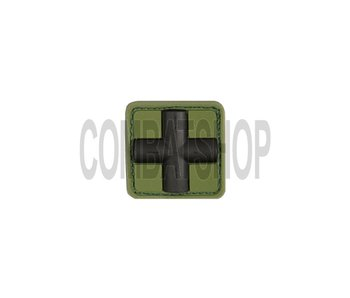 JTG Red Cross Rubber Patch 25mm Forest