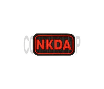 JTG NKDA Rubber Patch Red