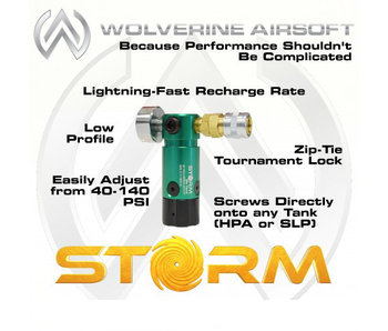 Wolverine STORM On Tank Regulator - with line