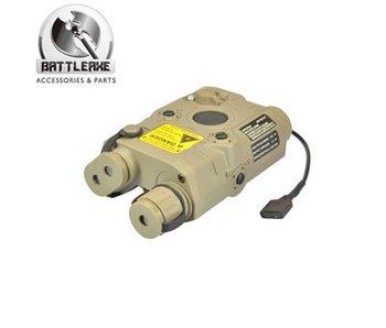 Battle Axe PEQ15 Battery Box Dark Earth, Red Laser, Wired