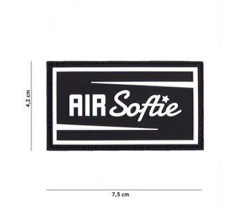 """3D/PVC Patch """"Air-softie"""" Black"""