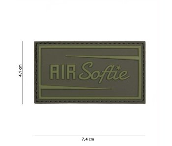 "3D/PVC Patch ""Air-softie"" Olive Drab (OD)"