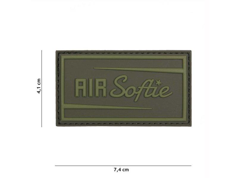 "3D/PVC Patch ""Air-softie"" Olive Drab (OD)"