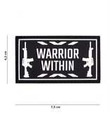 "3D/PVC Patch ""Warrior Within"" Black"