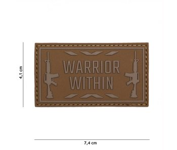 "3D/PVC Patch ""Warrior Within"" Tan"