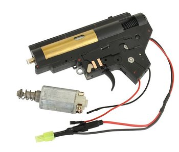 Cyma V2 Rear-Wired, Complete Gearbox, 8mm, incl. Motor