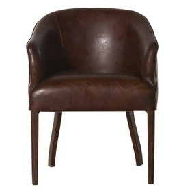 Flamant Stoel Donney Brown Leather