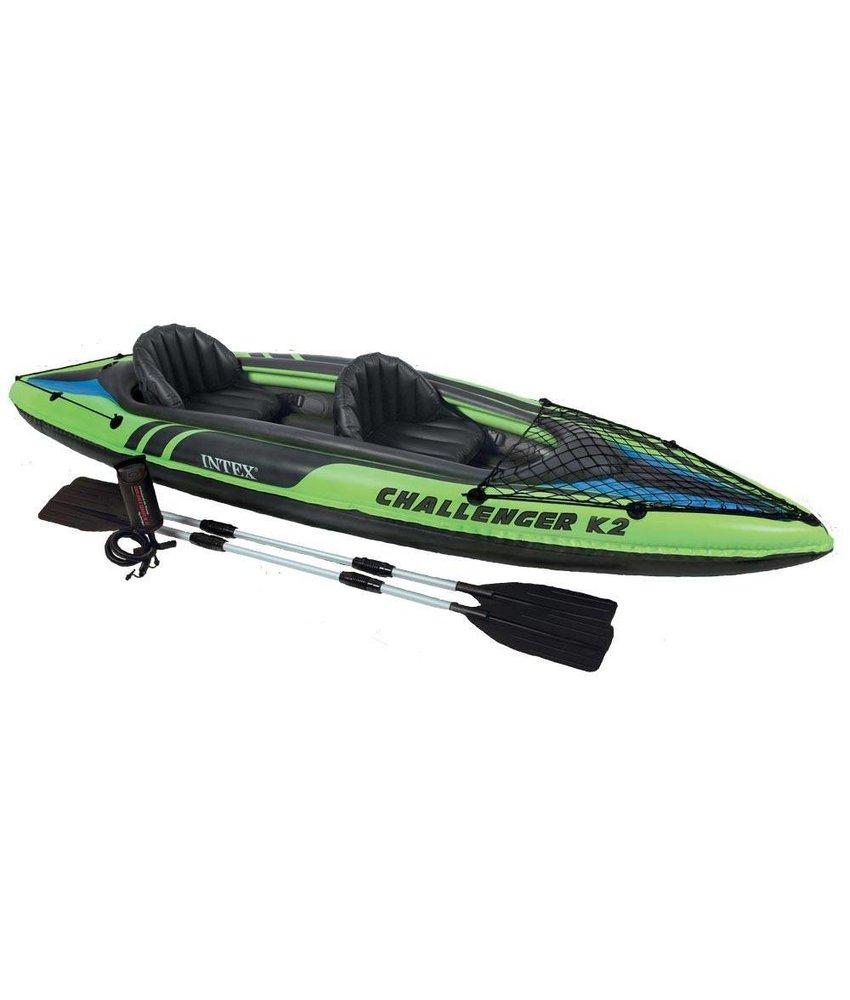 Intex Challenger K2 - 2 pers. kayak met peddel en pomp