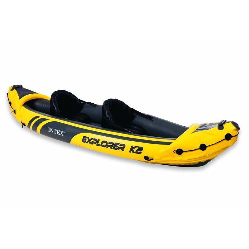 Intex Explorer K2 - 2 persoons kayak met peddel en pomp