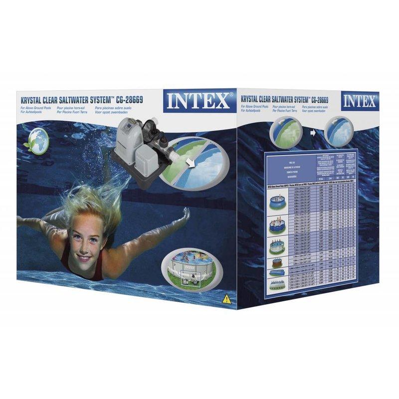 Intex Krystal Clear Zoutwatersysteem E.K.O. groot