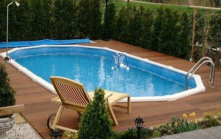 Zwembad century 610x360x132 cm complete set for Inbouw zwembad compleet