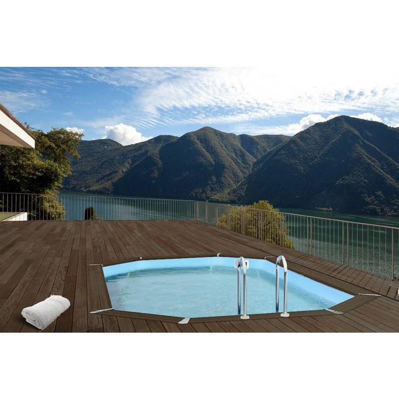 Interline Zwembad Bali Ovaal met Zandfilter 640x400x136 cm
