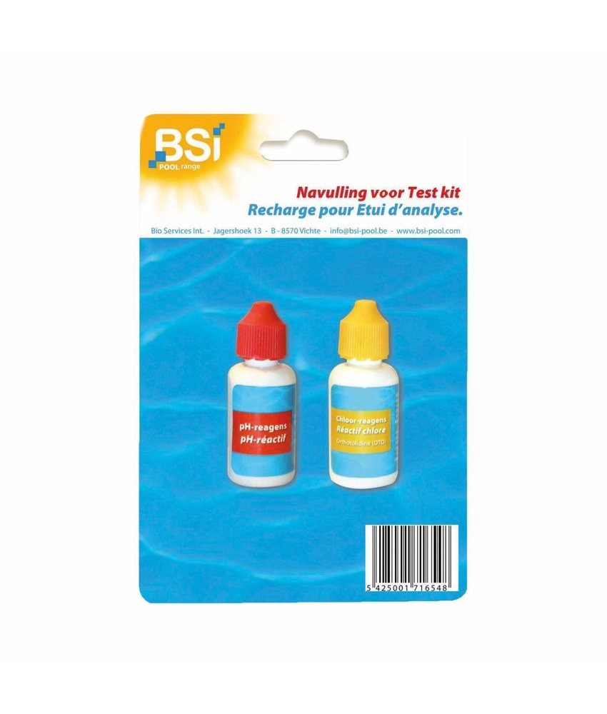 BSI navulling pH + Cl (druppeltest)