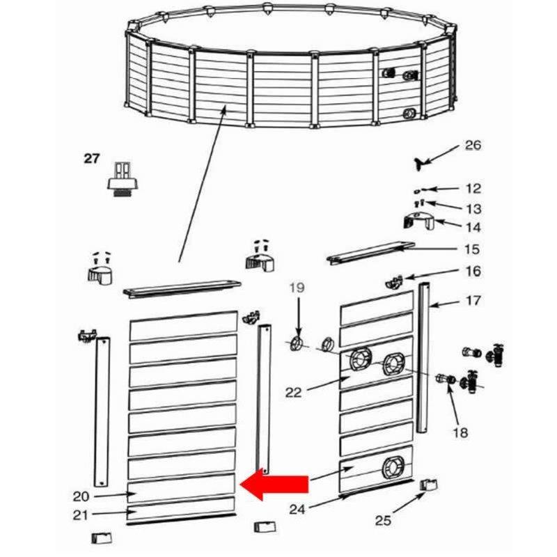 Intex plank zijkant A