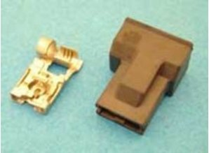 30-147B koplampstekker haaks H1 zwart 1-P
