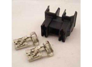 30-148B koplampstekker haaks H7 zwart 2-polig