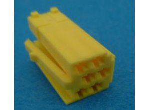 560818 mini ISO stekker 6 polig geel