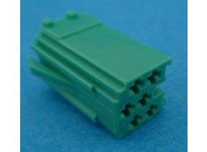 560819 mini ISO stekker 6 polig groen