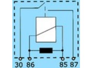 2843R 24V 10A N.O. (maakkontakt) en weerstand