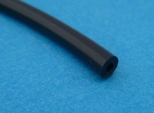 slang  2 x 5 mm zwart